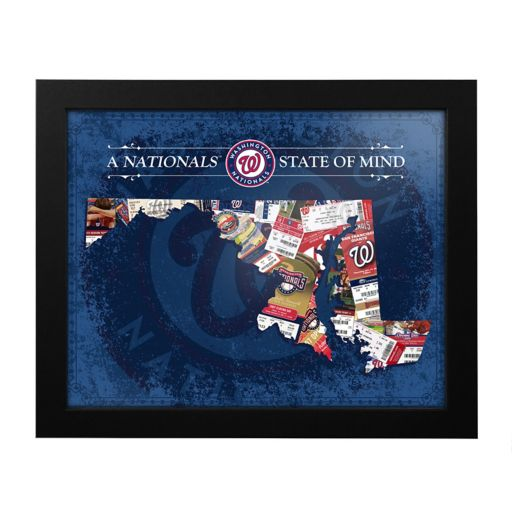 Washington Nationals Maryland State of Mind Framed Wall Art