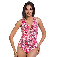 Women's Upstream Tummy Slimming Strappy One-Piece Swimsuit
