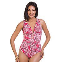 Women's Upstream Tummy Slimming Strappy One-Piece Swimsuit