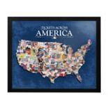 """MLB Tickets Across America 30"""" x 25"""" Framed Wall Art"""