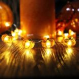 Manor Lane 10-ft. LED Pumpkin Halloween Shimmer String Lights