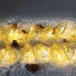 Manor Lane 10-ft. LED Gold Finish Leaf String Lights