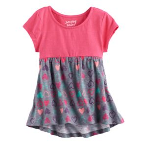 Toddler Girl Jumping Beans® Print Short Sleeve High-Low Hem Tunic