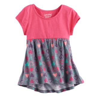 Toddler Girl Jumping Beans® Print Short Sleeve High-Low Hem Tunic
