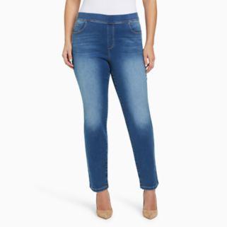 Plus Size Gloria Vanderbilt Avery High-Rise Pull-On Jeans