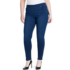 Plus Size Gloria Vanderbilt Avery High-Rise Pull-On Jeans