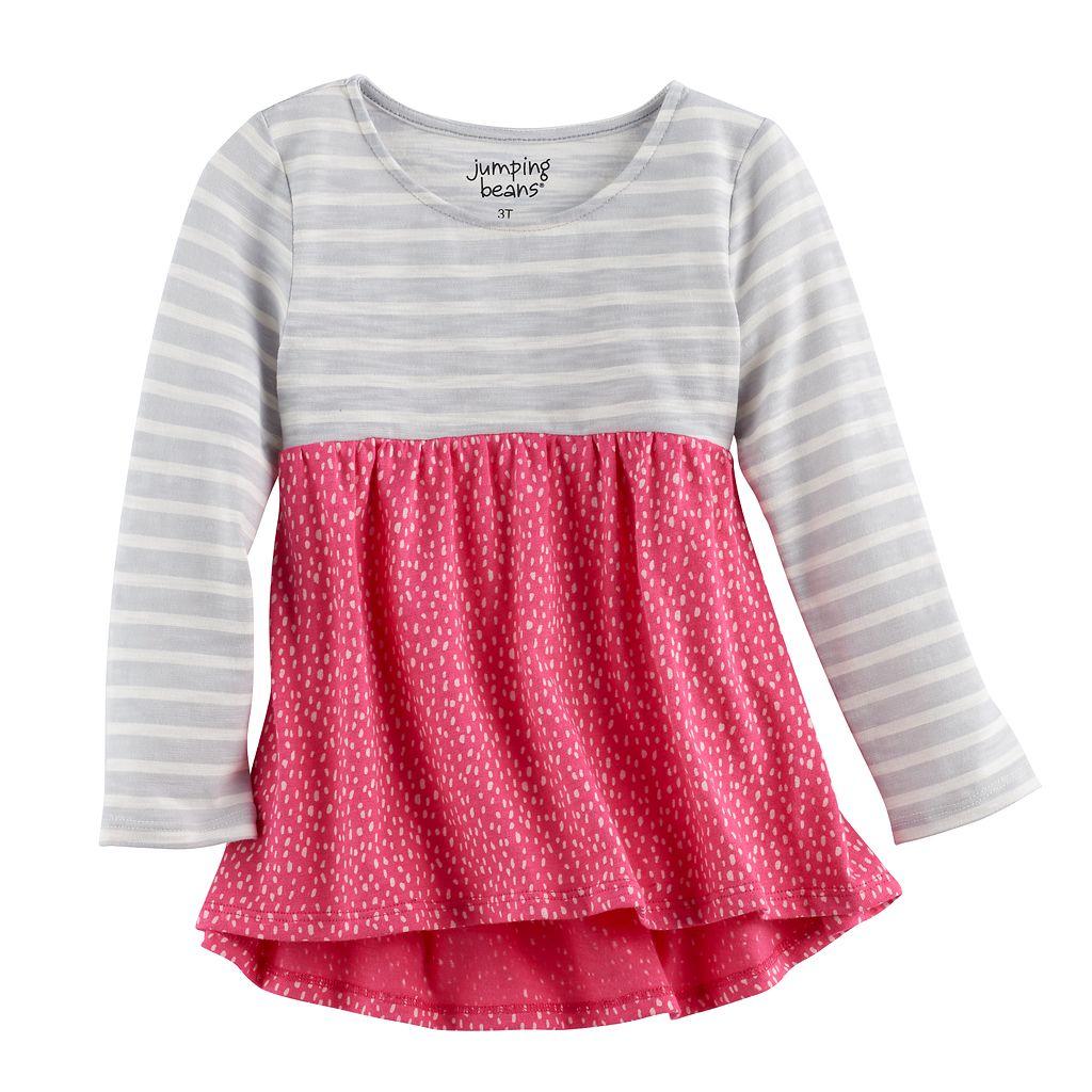 Toddler Girl Jumping Beans® Long Sleeve High-Low Hem Tunic