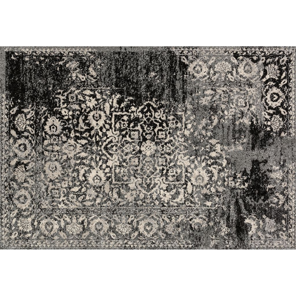 Loloi Emory Distressed Framed Floral Rug