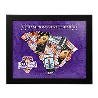 Clemson Tigers 2016 National Champs State of Mind Framed Wall Art
