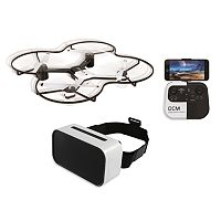 Sharper Image 14.4 in Lunar Drone with HD Camera & Virtual Reality Smartphone Viewer