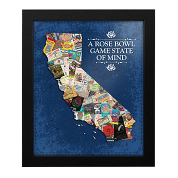 NCAA California Rose Bowl State of Mind Framed Wall Art