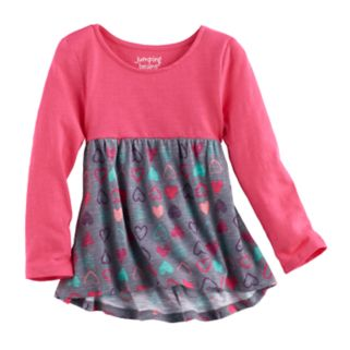 Toddler Girl Jumping Beans® Print Long Sleeve High-Low Hem Tunic