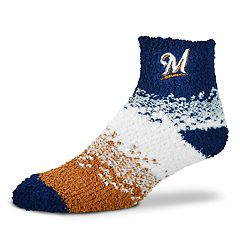 Women's For Bare Feet Milwaukee Brewers Marquee Sleep Socks