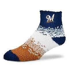 Women's For Bare Feet Milwaukee Brewers Marquee Sleep Socks