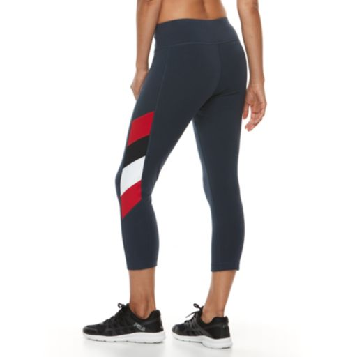 Women's FILA SPORT® Side Panel Strip Capri Leggings