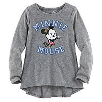 Disney's Minnie Mouse Girls 4-7 Ruffle Back High-Low Tee by Jumping Beans®