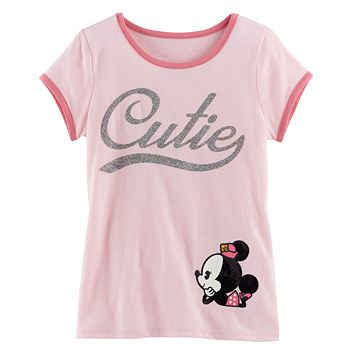 Disney's Minnie Mouse Toddler Girl Basic Ringer Tee by Jumping Beans®