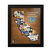 Golden State Warriors State of Mind Framed Wall Art
