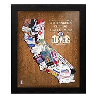 Los Angeles Clippers State of Mind Framed Wall Art