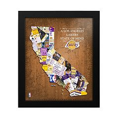 Los Angeles Lakers State of Mind Framed Wall Art