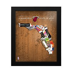 Miami Heat State of Mind Framed Wall Art
