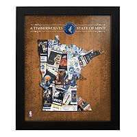 Minnesota Timberwolves State of Mind Framed Wall Art