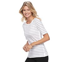 Women's Croft & Barrow® Side-Button Top