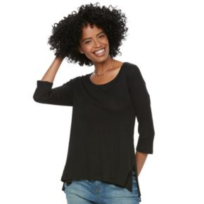Women's SONOMA Goods for Life? Ribbed Scoopneck Tee