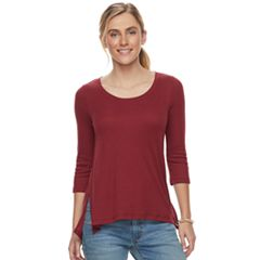 Women's SONOMA Goods for Life™ Ribbed Scoopneck Tee
