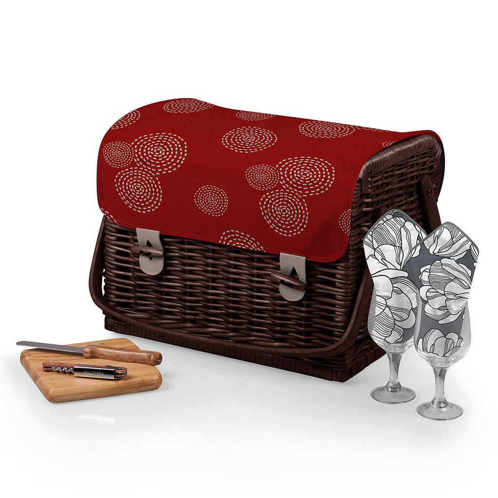 Picnic Time Kabrio Wine & Cheese Basket