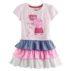 Toddler Girl Peppa Pig Tiered Ruffle Dress