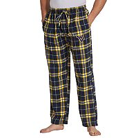 Men's Concepts Sport West Virginia Mountaineers Huddle Lounge Pants