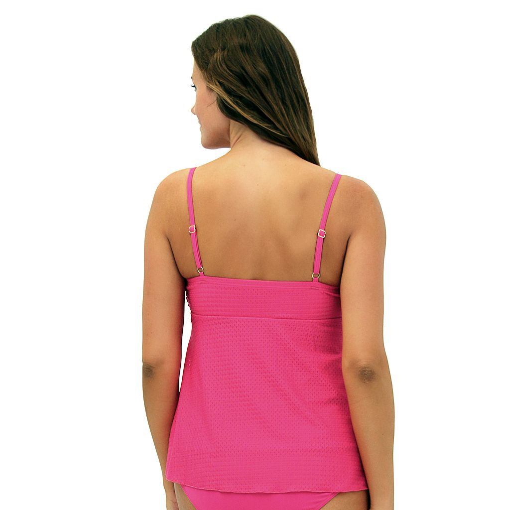Women's A Shore Fit Tummy Slimmer Twist-Front Bandeaukini Top