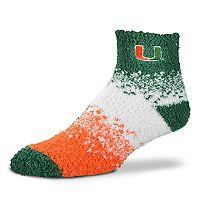 Women's For Bare Feet Miami Hurricanes Marquee Sleep Socks