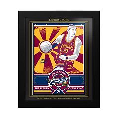 Cleveland Cavaliers LeBron James Famed Wall Art