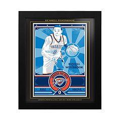 Oklahoma City Thunder Russell Westbrook Framed Wall Art