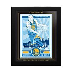 Golden State Warriors Stephen Curry Famed Wall Art