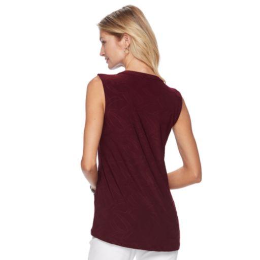 Women's Croft & Barrow® Pintuck Jacquard Top