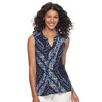 Women's Croft & Barrow® Pintuck Jacquard Top