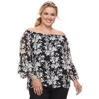 Plus Size Apt. 9® Printed Off-the-Shoulder Top