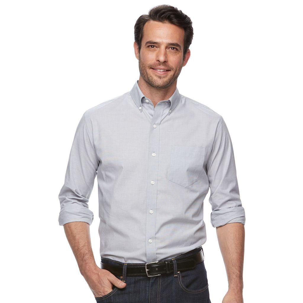 Men's Croft & Barrow® True Comfort Classic-Fit Stretch Button-Down Shirt