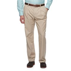 Big & Tall Croft & Barrow® Classic-Fit Easy-Care Stretch Pleated Khaki Pants