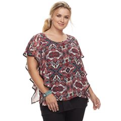 Plus Size Apt. 9® Scroll Popover Top