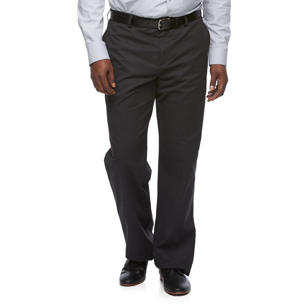 Big & Tall Croft & Barrow® Relaxed-Fit Easy-Care Stretch Pleated Khaki Pants