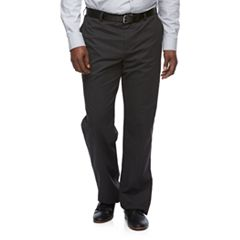 Big & Tall Croft & Barrow® Relaxed-Fit Easy-Care Stretch Flat-Front Khaki Pants