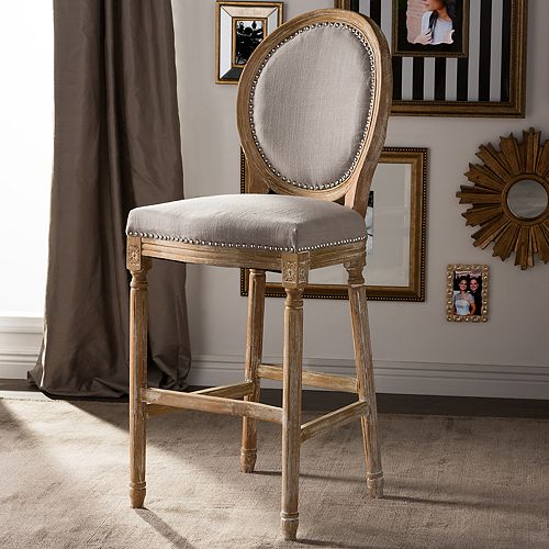 brand new 2b9a1 d41b3 Baxton Studio Louis French Country Bar Stool