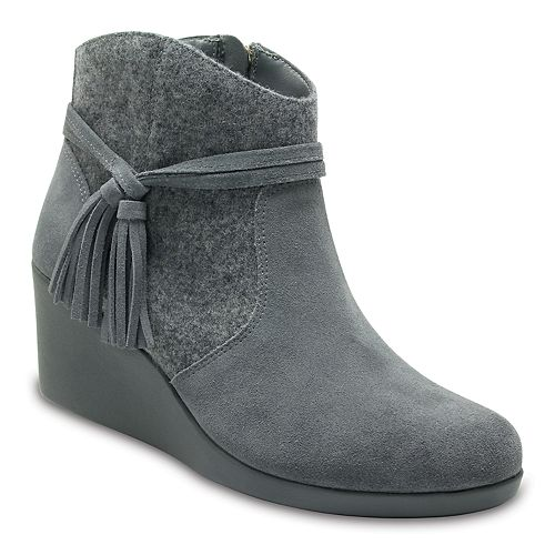 Crocs Leigh Tassel Women's Wedge Ankle Boots