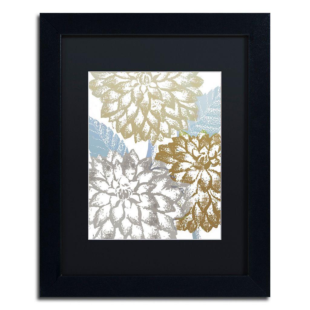 Trademark Fine Art Sea Dahlias II Black Framed Wall Art
