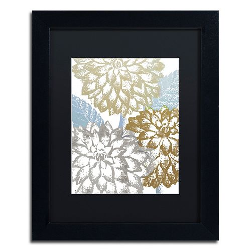 Trademark Fine Art Sea Dahlias II Black Framed Wall Art