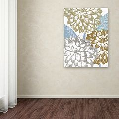 Trademark Fine Art Sea Dahlias II Canvas Wall Art